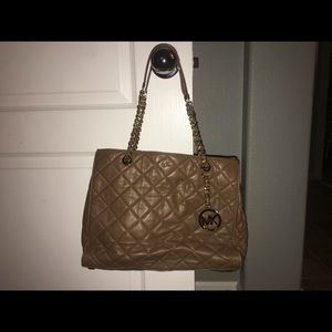 Michael Kors quilted tote bag